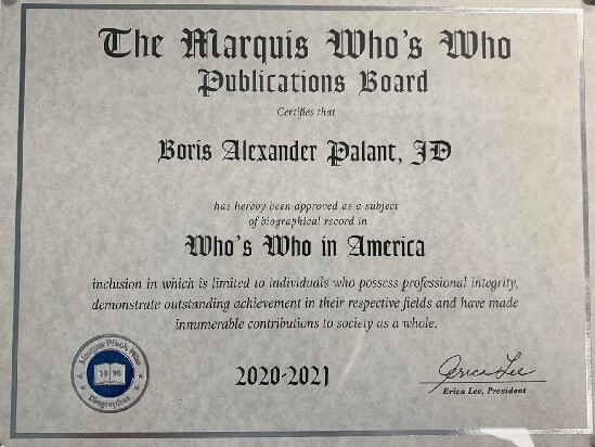 The Marquis Who's Who in America Boris A. Palant